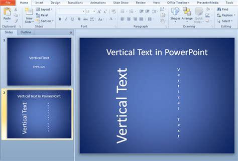 Texto Vertical en presentaciones de PowerPoint 2010