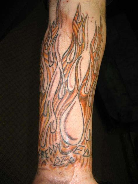 wood grain tattoo designs wood grain flames 100087 design
