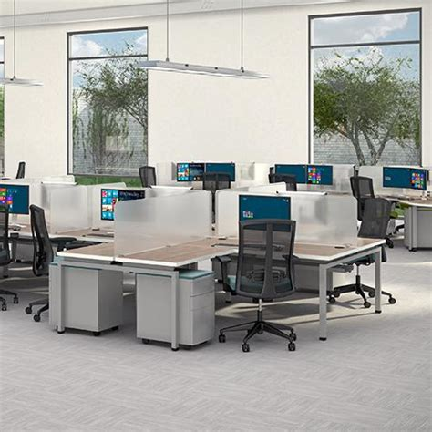 3 person office desk the office leader peblo 3 person 30 quot x 60 quot bench seating