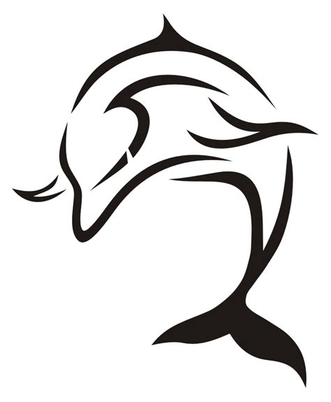 tribal outline dolphin tattoo design