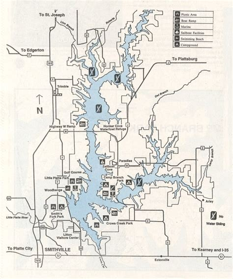 smithville lake map rving kc area suggestions