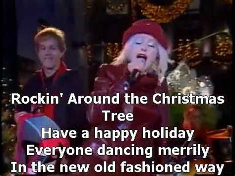 cyndi lauper rockin around the christmas tree youtube