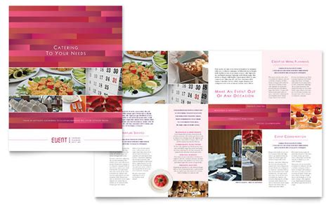 Festival Brochure Template by Corporate Event Planner Caterer Brochure Template Design
