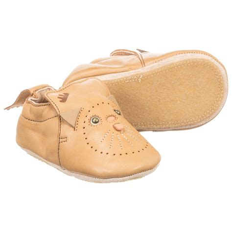 leather baby shoes easy peasy brown leather baby shoes childrensalon