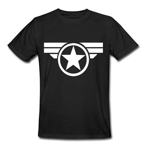 pattern t shirts wholesale captain america t shirt male short sleeve casual cotton o