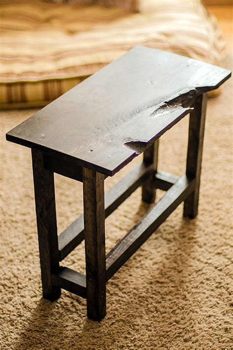 end table diy diy rustic end table for less than 10 commatose ca