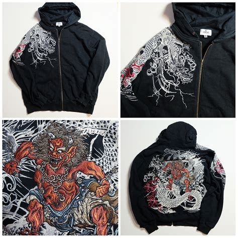 tattoo design hoodies japanese yakuza ryu evil ogre design