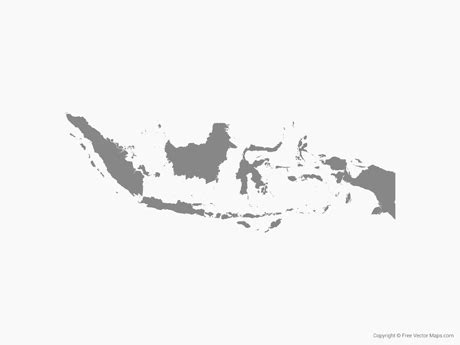 indonesia map vector free vector map of indonesia single color free vector maps