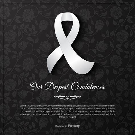 Deepest Sympathy Card Template by Our Deepest Condolences Vector Card Template