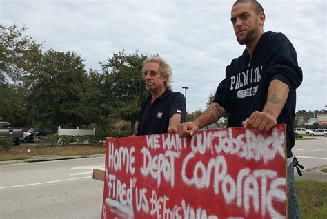 fired palm coast home depot workers seek community support