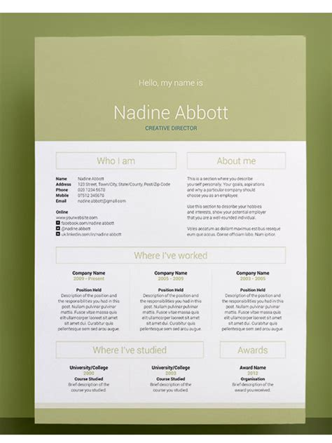 amazing resume template 50 awesome resume templates 2016