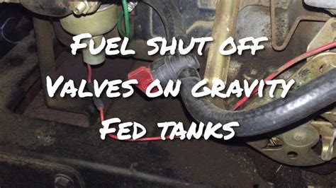 marine fuel tank shut off valve why fuel shut off valves are important on gravity fed fuel