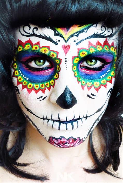 sugar skull face paint inkblade studios