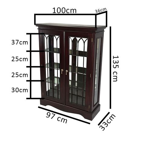 Reproduction Glass Display Cabinet Solid Mahogany Wood Display Cabinet Glass Vitrine Antique