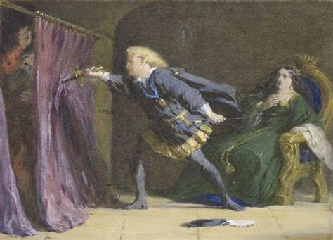 The Killing Of Hamlet by Polonius Drawing Www Pixshark Images Galleries