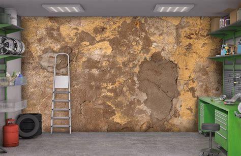 oude muur behang oude muur met gele stuc behang fotobehang