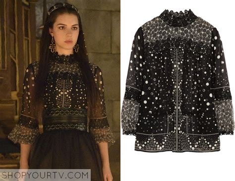 Blouse Kenna 1 season 2 episode 1 s black white printed blouse shop your tv