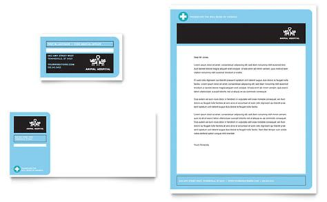 Shelter Insurance Letterhead Animal Hospital Brochure Template Design