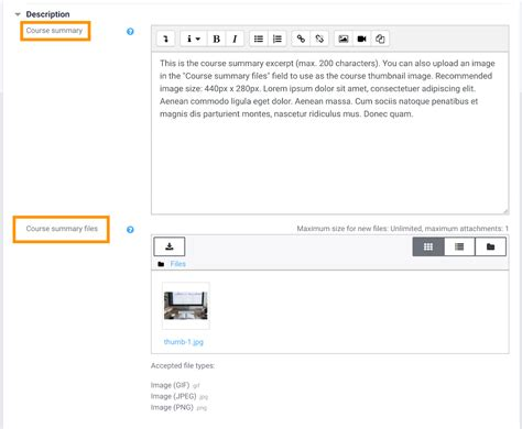 theme creator moodle how to add moodle course thumbnail and excerpt in moodle