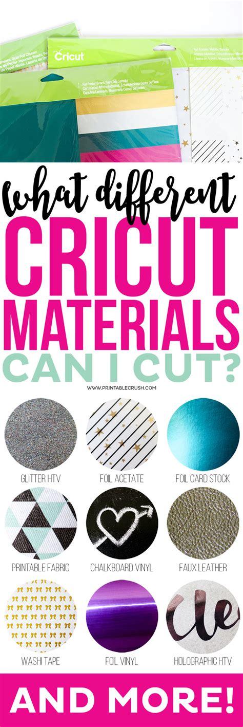 Which Cricut Can Cut Vinyl - what different cricut materials can i cut printable crush