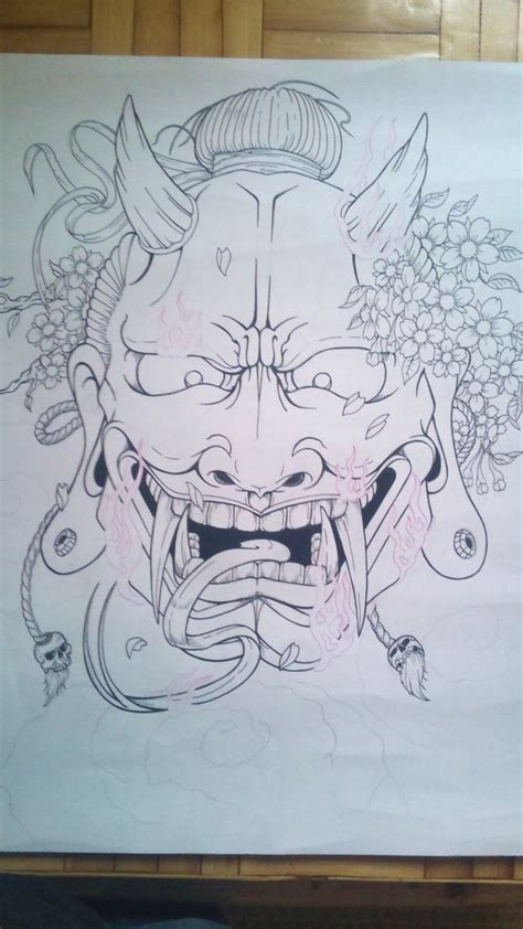 hannya mask tattoo deviantart hannya mask line by tonywave33 on deviantart oriental
