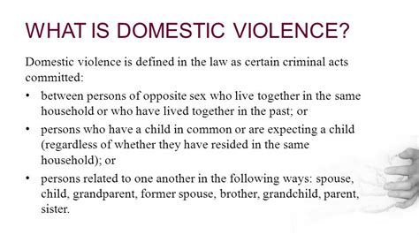 section 18 of domestic violence act domestic violence profiles of the abuser and abused ppt