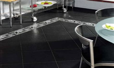 black kitchen floor tiles the interior design
