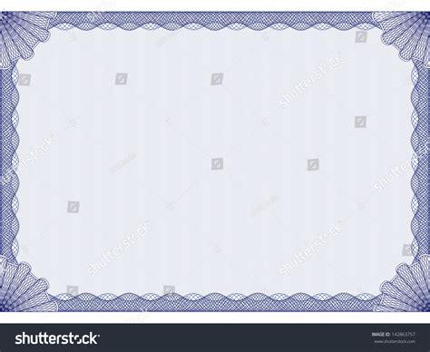 blue certificate template blue certificate template stock vector illustration