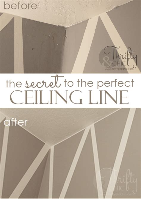 Best Way To Paint Line Between Wall And Ceiling - thrifty and chic diy projects and home decor