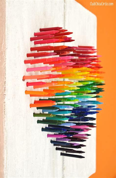 Bedroom Ideas For Tween Girls faux stone rainbow crayon wall art diy club chica circle