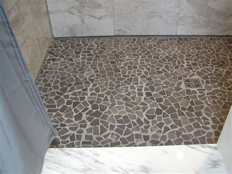 Mosaic Shower Tile by Grey Marble Mosaic Tile Shower Flooring Pebble Tile Shop