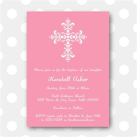 baptismal invitation template free free printable baptism invitations free printable