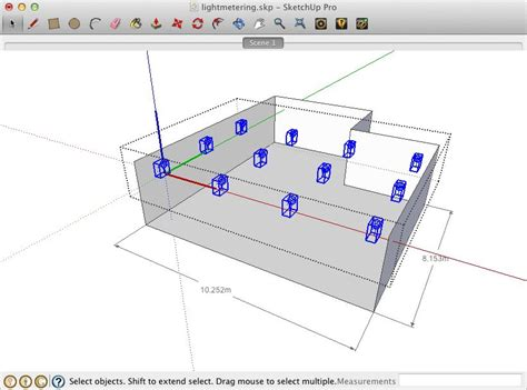 sketchup layout snap to grid lightup working with lightmeter grids