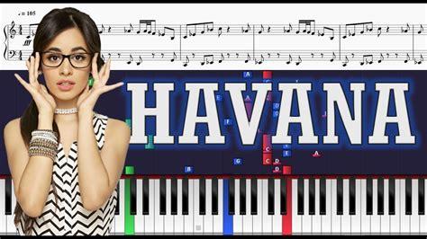 tutorial piano havana camila cabello ft young thug havana piano tutorial w