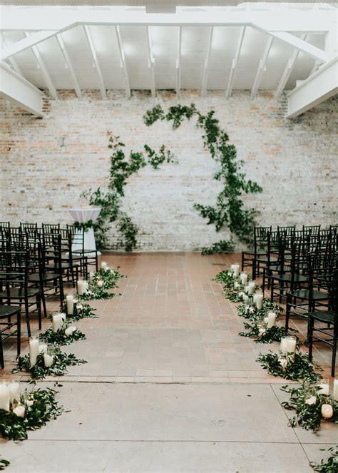 Wedding Aisle Modern by A Modern Garden Inspired Wedding Emily 100