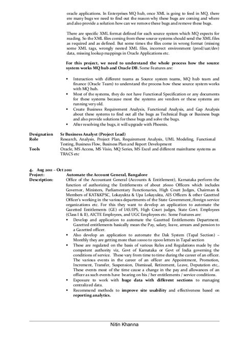 Lead Business Analyst Sle Resume by Sle Business Analyst Resume Entry Level Resume Cv Cover Letter