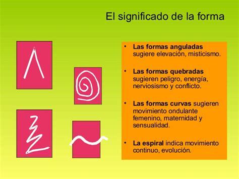 la forma de las el significado de la forma