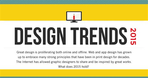 design trends meaning design trends 2015 and what they mean to you infographic