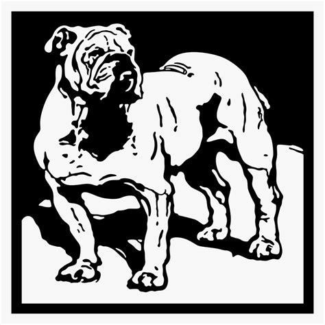 bulldog papercut pattern craftsmanspace