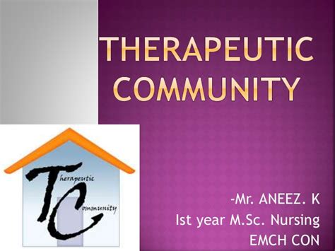 community therapy therapeutic community