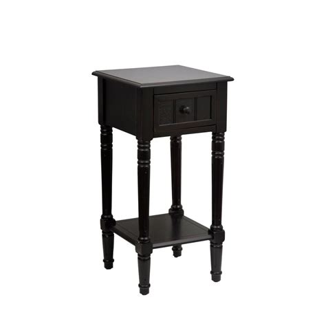 decor therapy end table decor therapy simplify black 1 drawer end table fr1476
