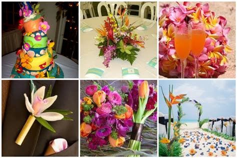 Tropical Wedding Theme Ideas - tbdress blog decor suggestions for tropical themed weddings