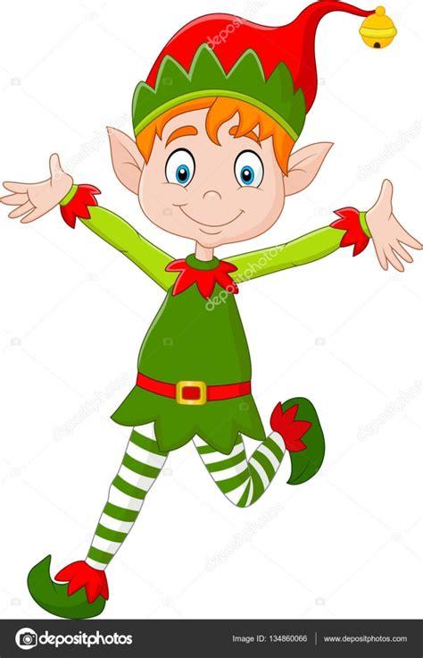 imagenes vectoriales de navidad duende de navidad feliz de dibujos animados archivo