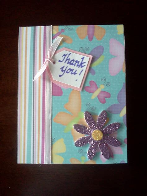 Cards Handmade For You - handmade thank you card