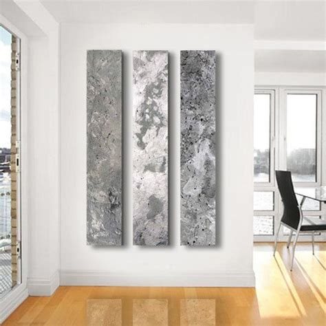 metallic home decor metallic abstract paintings 3 panel custom abstract
