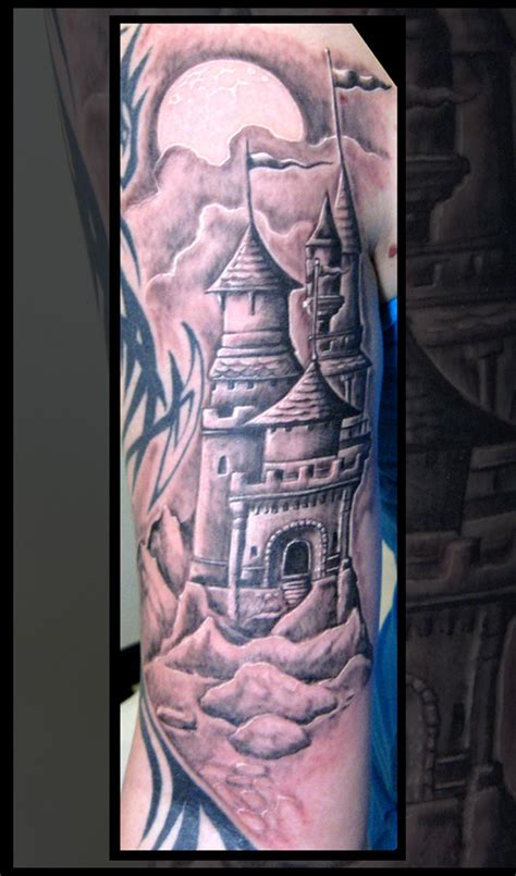 castle tattoo design castle tattoos