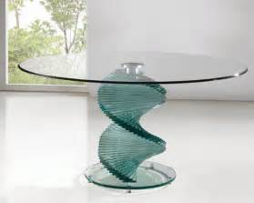 Twirl Glass Dining Room Table Dining Room Table Pedestals Twirl Clear Glass Dining