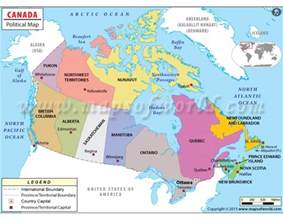 political map canada geography maps of canada
