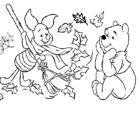 Kindergarten Fall Coloring Pages easy preschool fall leaves coloring pages printable