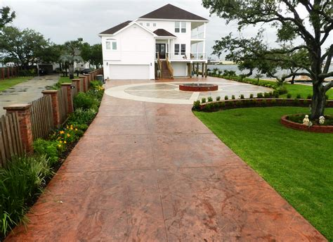 Patio Driveway Designs Sted Concrete Driveway Patio Design Ideas Everything
